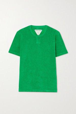Cotton-blend Terry T-shirt - Green
