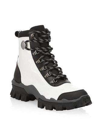 Moncler Helis Leather Hiking Boots | SaksFifthAvenue