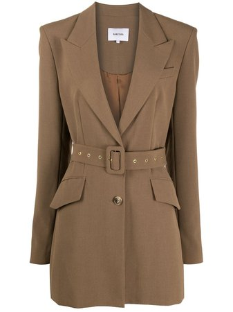 Shop Nanushka Honor belted blazer with Express Delivery - FARFETCH
