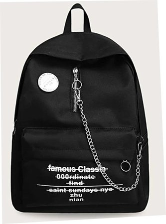 shein backpack with chain