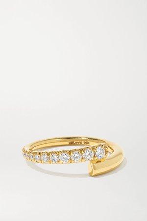 Gold Lola 18-karat gold diamond ring | Melissa Kaye | NET-A-PORTER