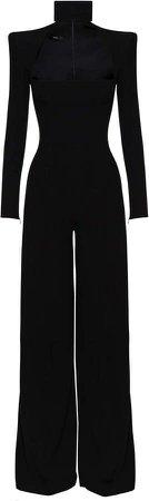 Alex Perry Morgan Cutout-Detailed Crepe Jumpsuit