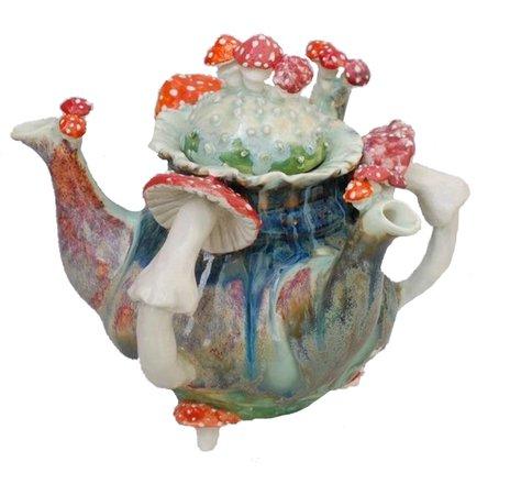 Porcelain Dream Shoppe Mushroom Teapot