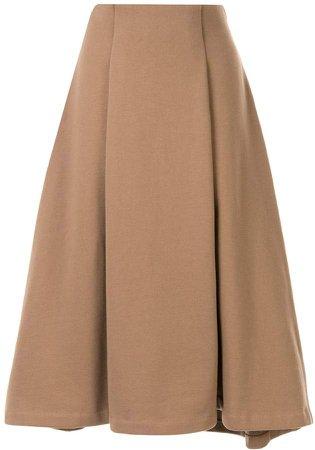 Jersey flared midi-skirt