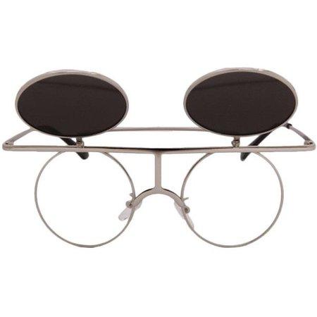 Punk Double-Layered Metal Sunglasses