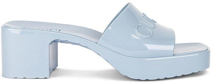Plastique Rubber Sandals in Porcelain Light Blue | FWRD