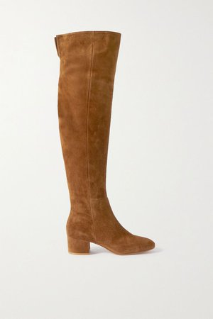 Tan 45 suede over-the-knee boots | Gianvito Rossi | NET-A-PORTER
