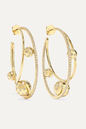 Gold Solar 18-karat gold diamond earrings | OFIRA | NET-A-PORTER