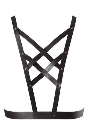 Bijoux Indiscrets Maze Cross Front Harness | Nordstrom
