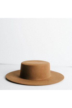 Gigi Pip Dahlia Brown - Women's Boater Hat – The Local Honey Collective