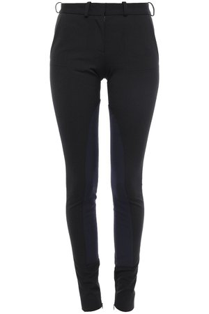 Black Two-tone stretch-crepe skinny pants | Sale up to 70% off | THE OUTNET | VICTORIA BECKHAM | THE OUTNET