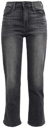 Le Nouveau Straight Cropped Frayed High-rise Straight-leg Jeans