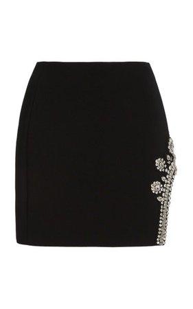 Crystal-Embellished Crepe Mini Skirt By David Koma | Moda Operandi