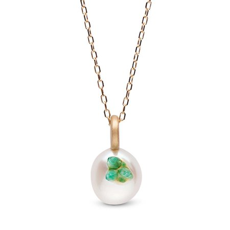 Emerald Point Pearl Mini Pendant – littlehjewelry