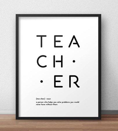 Teacher definition print Minimal design wall art Pegboard | Etsy