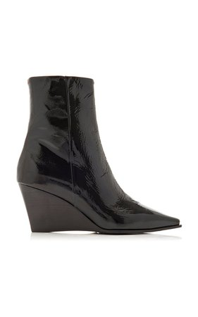 Lena Patent Leather Wedge Boots By Aeyde | Moda Operandi