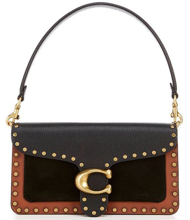 COACH Tabby Colorblock Studded Leather Crossbody Bag | Dillard's