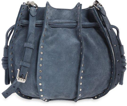 Nadine Small Leather Bucket Bag