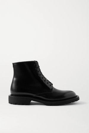 Black Army leather ankle boots | SAINT LAURENT | NET-A-PORTER
