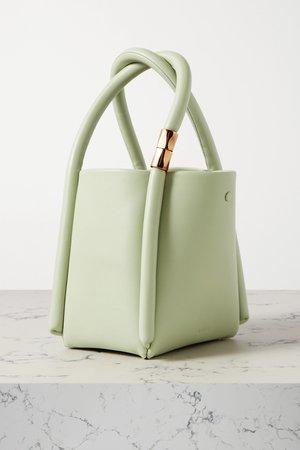 Green Lotus 12 leather tote   BOYY   NET-A-PORTER