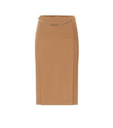 Crêpe Pencil Skirt - Alexander McQueen | Mytheresa