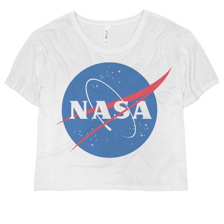 NASA Vintage Science Crop Top Ladies Flowy Boxy Cropped T-Shirt
