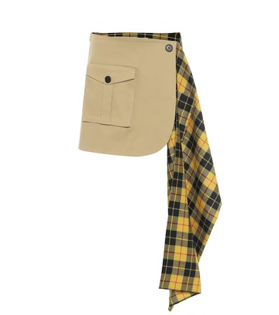 Checked Mini Skirt - Monse | Mytheresa