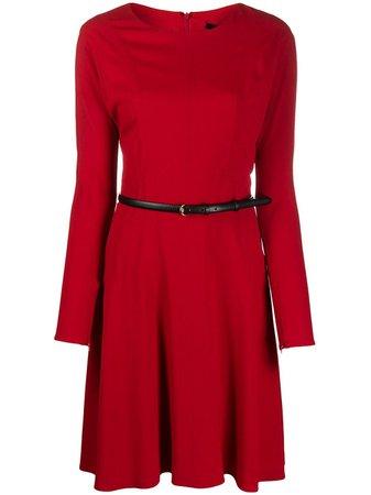 Gucci Belted Flared Dress - Farfetch