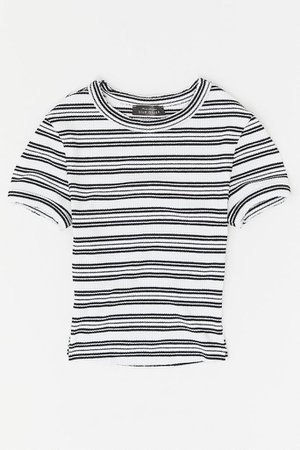 UO Perfect Ribbed Baby Tee | Urban Outfitters