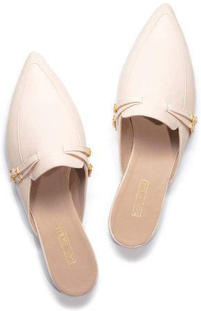 Lou.Earl Ardis In Peony Tassled Leather Mule Loafers