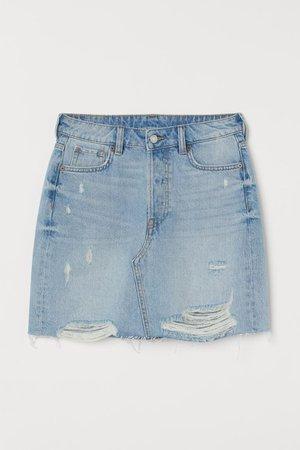 Denim Skirt - Light denim blue - Ladies | H&M US