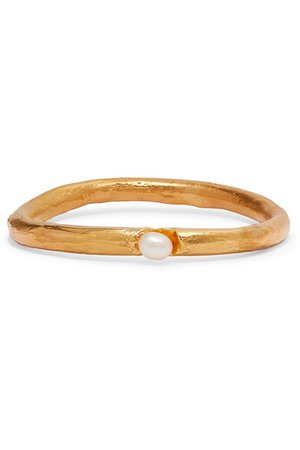 Alighieri   Dealer's Choice gold-plated pearl bracelet   NET-A-PORTER.COM