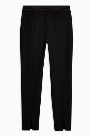 Black Skinny Split Cigarette Trousers | Topshop
