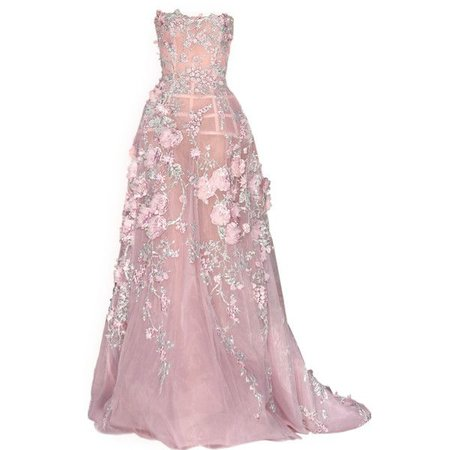 Pastel-Pink Couture Gown (Zuhair Murad)