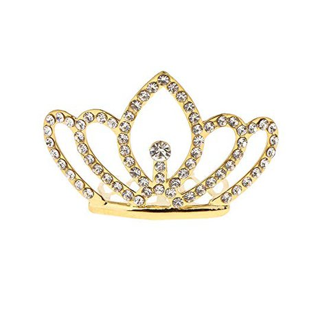 Amazon.com : Fityle Small Crown Mini Tiara with Comb Hair Clip Rhinestone Wedding Pageant Banquet Prom Party Costume Prop - Gold, 4.7 x 4.3 x 3 cm : Beauty