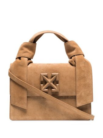 Off-White Brown Jitney 1.4 Suede Shoulder Bag - Farfetch