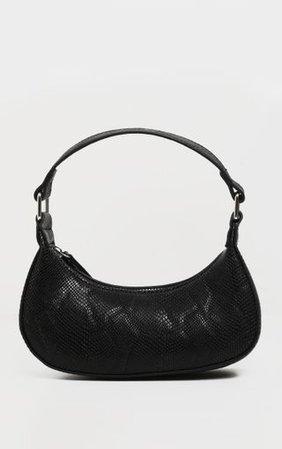 Black Snake Mini Shoulder Bag | Accessories | PrettyLittleThing