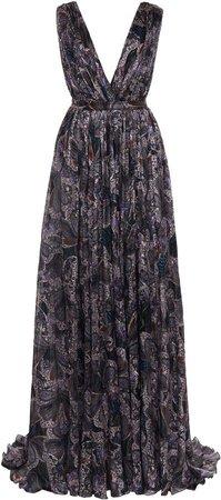 Etro Paisley Printed Silk Dress Size: 38