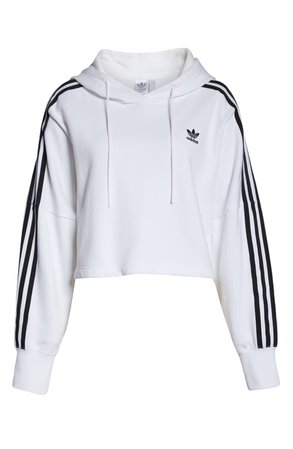 adidas Originals Crop Hoodie white