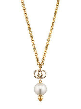 Shop Gucci GG faux pearl necklace with Express Delivery - FARFETCH