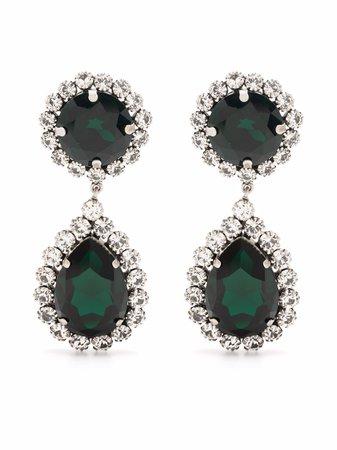 Alessandra Rich crystal-embellished Drop Pendant Earrings - Farfetch