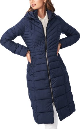Hooded Long Quilted Coat