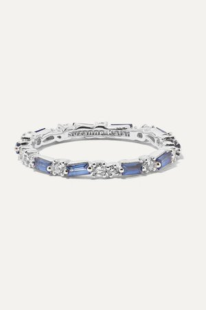 Suzanne Kalan | 18-karat white gold, sapphire and diamond ring | NET-A-PORTER.COM
