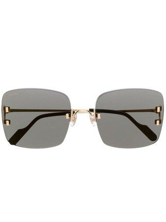 Cartier Eyewear C Décor Sunglasses - Farfetch