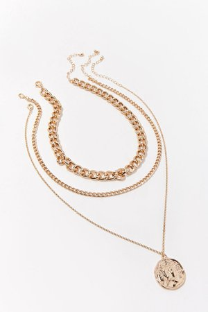 Coin Pendant Necklace Set | Forever 21