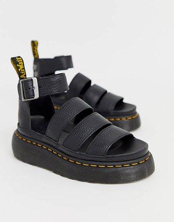 Dr Martens Clarissa II quad sandals in black | ASOS