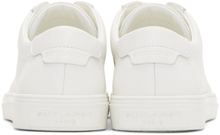 Saint Laurent White Lace-Up Sneakers