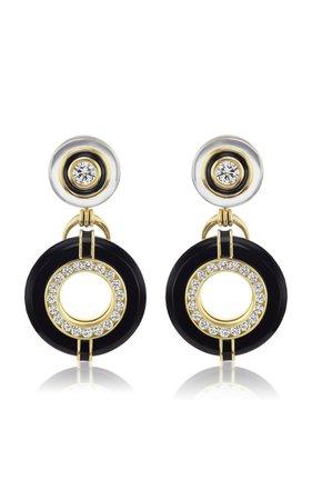 Donut Series III Diamond and Black Onyx Earrings by Andrew Glassford | Moda Operandi