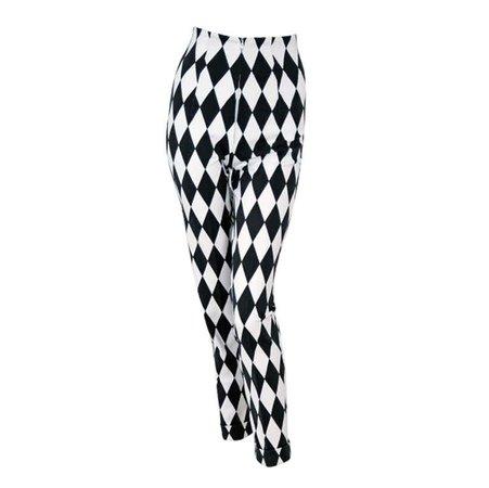 1990's Gianni Versace Harlequin Rare Black & White Skinny Jeans