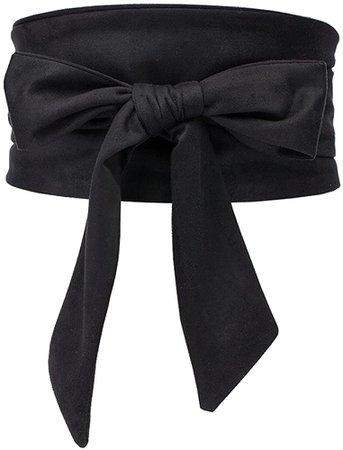 Aecibzo Women's Bowknot Self Tie Wrap Around Obi Waist Band Cinch Boho Waist Belt (Black) at Amazon Women's Clothing store